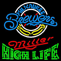 Miller High Life Milwaukee Brewers MLB Beer Sign Neon Sign