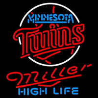 Miller High Life Minnesota Twins MLB Beer Sign Neon Sign