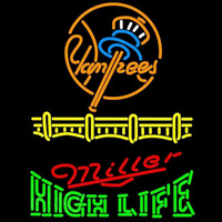 Miller High Life New York Yankees Beer Sign Neon Sign