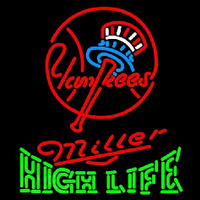 Miller High Life New York Yankees MLB Beer Sign Neon Sign