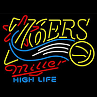 Miller High Life Philadelphia 76ers NBA Beer Sign Neon Sign