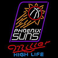 Miller High Life Phoenix Suns NBA Beer Sign Neon Sign