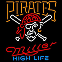 Miller High Life Pittsburgh Pirates MLB Beer Sign Neon Sign