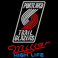 Miller High Life Portland Trail Blazers NBA Beer Sign Neon Sign