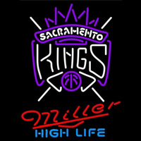 Miller High Life Sacramento Kings NBA Beer Sign Neon Sign