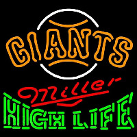Miller High Life San Francisco Giants MLB Beer Sign Neon Sign