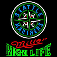 Miller High Life Seattle Mariners MLB Beer Sign Neon Sign