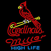 Miller High Life St Louis Cardinals MLB Beer Sign Neon Sign