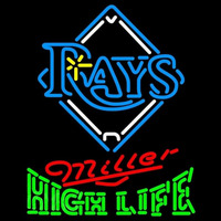 Miller High Life Tampa Bay Rays MLB Beer Sign Neon Sign