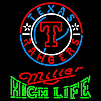 Miller High Life Texas Rangers MLB Beer Sign Neon Sign