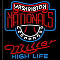 Miller High Life Washington Nationals MLB Beer Sign Neon Sign