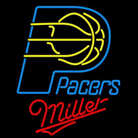 Miller Indiana Pacers NBA Beer Sign Neon Sign