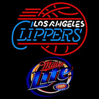 Miller Light Los Angeles Clippers NBA Beer Sign Neon Sign