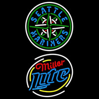 Miller Light Raunded Seattle Mariners MLB Beer Sign Neon Sign