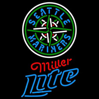 Miller Light Seattle Mariners MLB Beer Sign Neon Sign