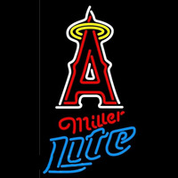 Miller Lite Anaheim Angels MLB Beer Sign Neon Sign