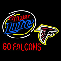 Miller Lite Atlanta Falcons Neon Sign Neon Sign