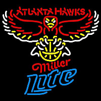 Miller Lite Atlanta Hawks NBA Beer Sign Neon Sign