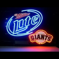 Miller Lite Beer San Francisco Giants Neonbar Neon Sign