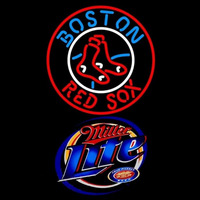 Miller Lite Boston Red Sox MLB Beer Sign Neon Sign