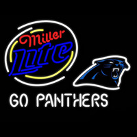 Miller Lite Carolina Panthers Real Neon Glass Tube Neon Sign Neon Sign
