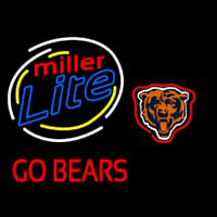 Miller Lite Chicago Bears Beer Neon Sign Neon Sign