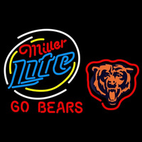 Miller Lite Chicago Bears Neon Beer Signs Giant Neon Sign
