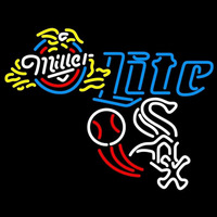 Miller Lite Chicago White Sox Ball MLB Beer Sign Neon Sign
