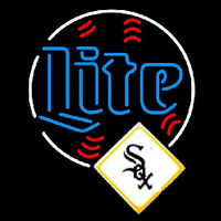 Miller Lite Chicago White Sox MLB Beer Sign Neon Sign