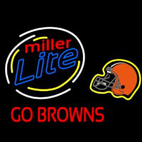 Miller Lite Cleveland Browns Neon Sign Neon Sign
