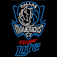Miller Lite Dallas Mavericks NBA Beer Sign Neon Sign