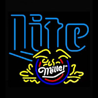 Miller Lite Eagle Cresent Neon Sign
