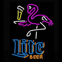 Miller Lite Flamingo Neon Sign