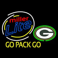 Miller Lite Green Bay Packers Beer Neon Sign Neon Sign