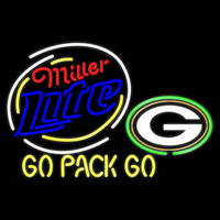 Miller Lite Green Bay Packers Beer Real Neon Glass Tube Neon Sign Neon Sign