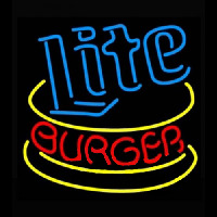 Miller Lite Hamburger Neon Sign