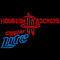 Miller Lite Houston Rockets NBA Beer Sign Neon Sign