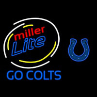 Miller Lite Indianapolis Colts Neon Sign Neon Sign