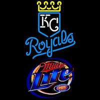 Miller Lite Kansas City Royals MLB Beer Sign Neon Sign