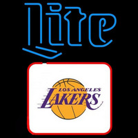 Miller Lite Los Angeles Lakers NBA Beer Sign Neon Sign