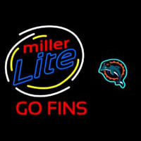 Miller Lite Miami Dolphins Beer Neon Sign Neon Sign