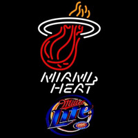 Miller Lite Miami Heat NBA Beer Sign Neon Sign