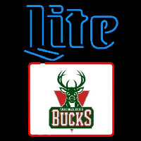 Miller Lite Milwaukee Bucks NBA Beer Sign Neon Sign