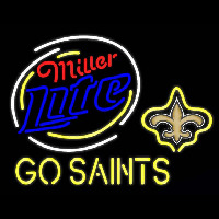 Miller Lite New Orleans Saints Go Saints Real Neon Glass Tube Neon Sign Neon Sign