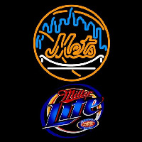 Miller Lite New York Mets MLB Beer Sign Neon Sign