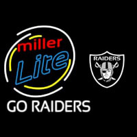 Miller Lite Oakland Raiders Go Raiders Neon Sign Neon Sign