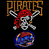 Miller Lite Pittsburgh Pirates MLB Beer Sign Neon Sign