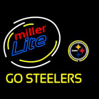 Miller Lite Pittsburgh Steelers Go Steelers Neon Sign Neon Sign