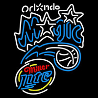 Miller Lite Raunded Orlando Magic NBA Beer Sign Neon Sign