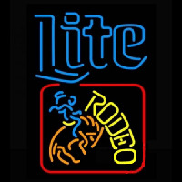 Miller Lite Rodeo Neon Sign